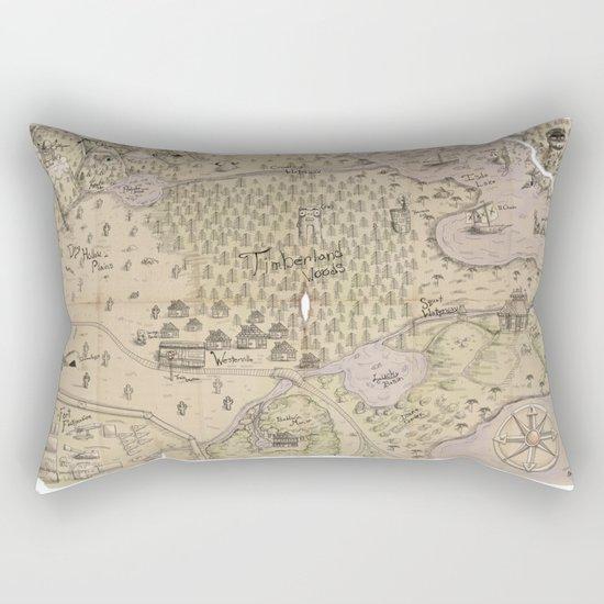 Rough Terrain Rectangular Pillow