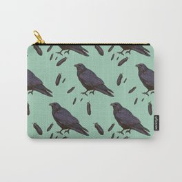 Mint Raven Carry-All Pouch
