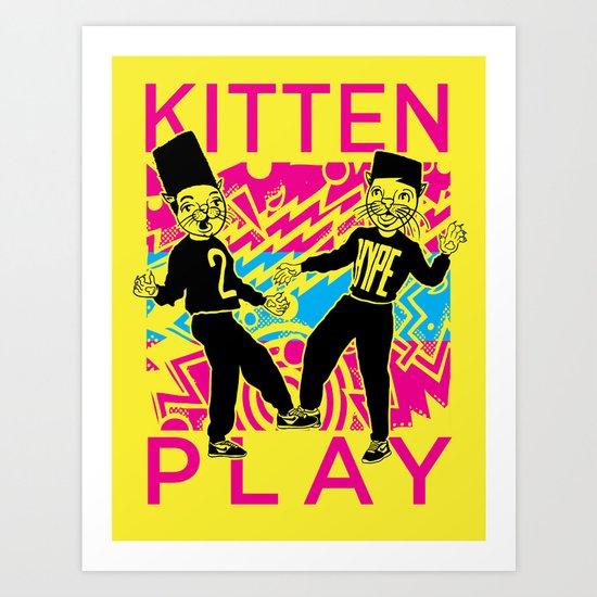 Kitten Play Art Print