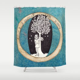 Ontological Box - Sally Shower Curtain