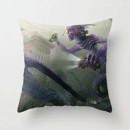 Saint Louis Sea Monster Throw Pillow