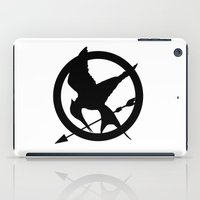 mockingjay iPad Cases featuring The MockingJay  by Lauren Lee Design's