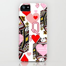 RED &  PINK QUEEN OF HEARTS CASINO ART iPhone Case