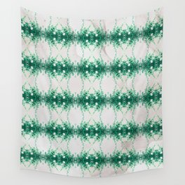 Hot Mint & Grey Water Wall Tapestry
