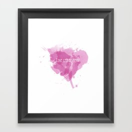 Love can be messy Framed Art Print