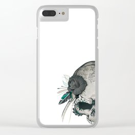 Skull Amazon Queen Clear iPhone Case