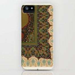 Indo-Persian pattern from L'ornement Polychrome (1888) by Albert Racinet (1825–1893).4 iPhone Case