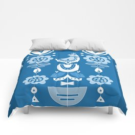 Blue Birds In Scandinavia Comforters
