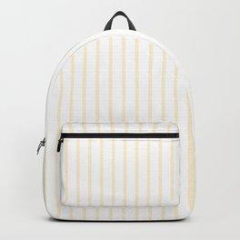 Gardenia Cream Pinstripe on White Backpack