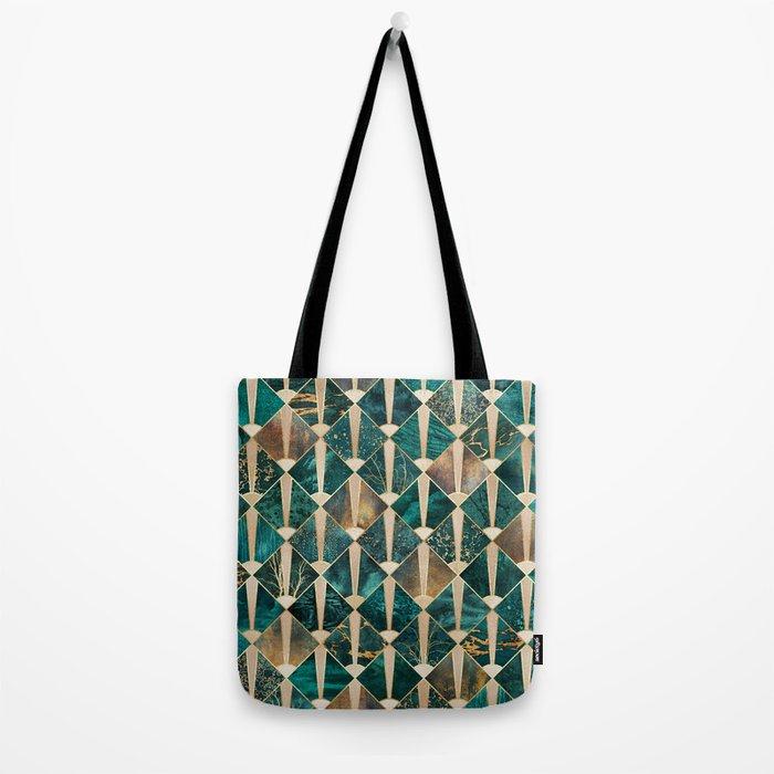 Art Deco Tiles - Ocean Tote Bag