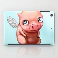 pigs iPad Cases featuring When Pigs.... by Stephen Yan