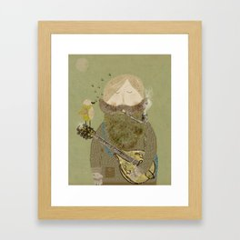 mornings song Framed Art Print