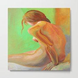 Young Beautiful Nude Woman At Dawn Metal Print