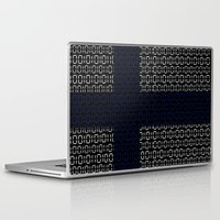 finland Laptop & iPad Skins featuring digital Flag (Finland) by seb mcnulty