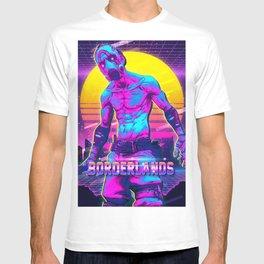 borderlands retro art T-shirt