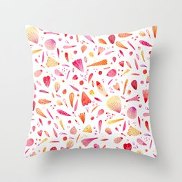 Petals Scattered About Throw Pillow