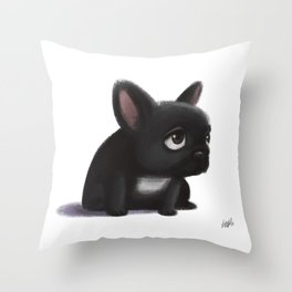 Little dog Throw Pillow