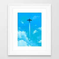 planes Framed Art Prints featuring Planes by Ashleigh Jane