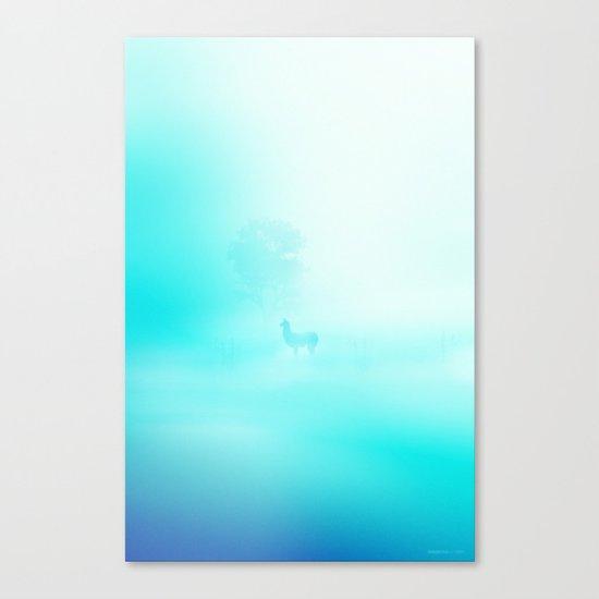 Llama. Creatures in the mist. Canvas Print