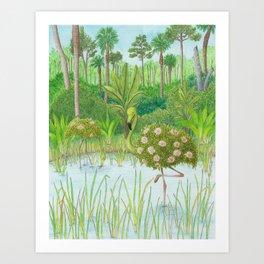 Birds of Paradise: Flamingo Art Print