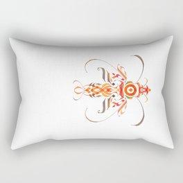 Moth (calligraphy) Rectangular Pillow