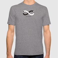 Never stop creating (the infinity pencil) Mens Fitted Tee Tri-Grey 2X-LARGE