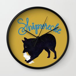 Shipwrecke (Yellow and Blue) Wall Clock