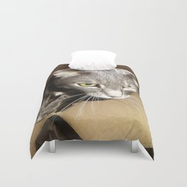 Cat in the box Duvet Cover