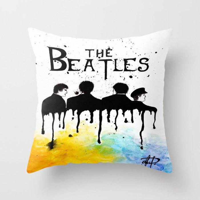 60 S Rock Band Throw Pillow By Modishstateofart Society6
