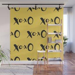 Kisses XOXO Lemon Zest Wall Mural
