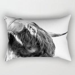 Black and White Horns Rectangular Pillow