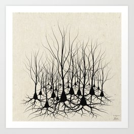 Pyramidal Neuron Forest Art Print