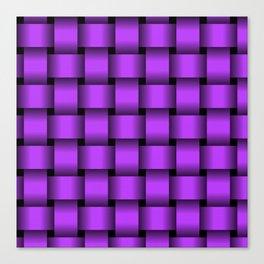 Large Light Violet Weave Canvas Print