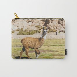 Curious llama in Bolivia Carry-All Pouch