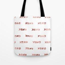 XOXO Fashion Love Rose Gold Pattern Tote Bag