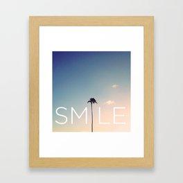 Palm tree Smile Framed Art Print