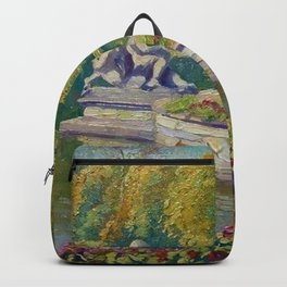 Lake and Gardens with Statuary Landscape by Nikolay Bogdanov-Belsky Backpack