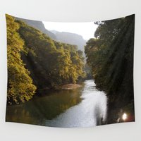 river Wall Tapestries featuring River by Orestis Lazos