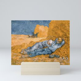 The Siesta by Vincent van Gogh, 1890 Mini Art Print