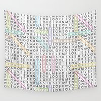 letters Wall Tapestries featuring Love&Letters by Vannina