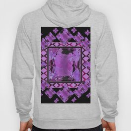 BLACK ART DECO  AMETHYST GEMS   DECORATIVE ART Hoody