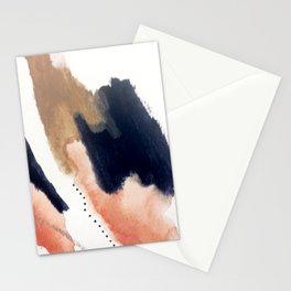 Drift Away [2] - a mixed media abstract piece in pink, brown, and purple Stationery Cards