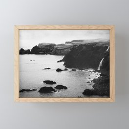 Azores coastal landscape Framed Mini Art Print