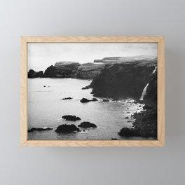 Azores coastal landscape Framed Mini Art Print