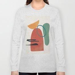 Minimal Abstract Shapes No.41 Long Sleeve T-shirt