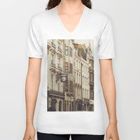 london V-neck T-shirts featuring London  by Nina's clicks