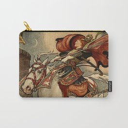 """""""She Put Her Steed to the Wall"""" by Frank C Pape Carry-All Pouch"""