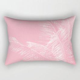 Millennial Pink illumination of Heart White Tropical Palm Hawaii Rectangular Pillow