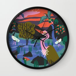 Bird Reserve Wall Clock