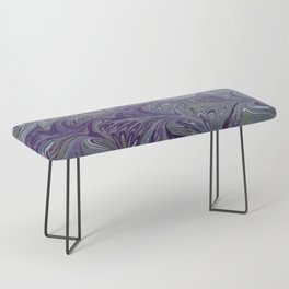 Purple, Blue, & Green Marbled Bench